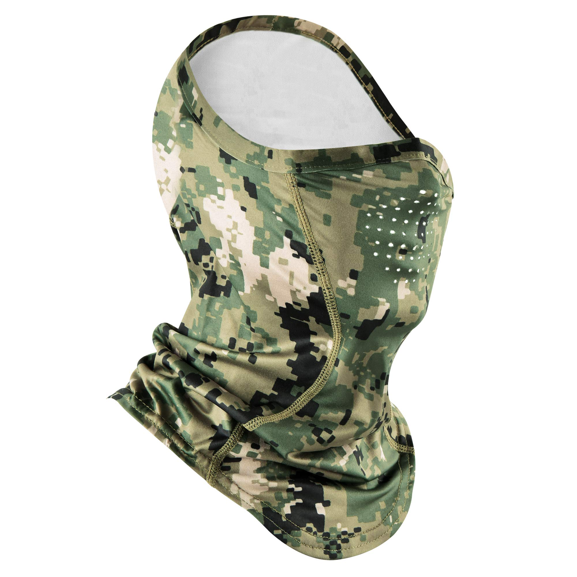EXski Camo Gaiter Mask UPF 50 Half Balaclava Face Mask with Breathable Air Holes for Hunting Fishing Hiking