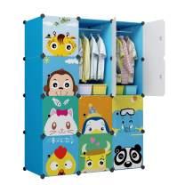 """KOUSI Kid Clothes Storage Organizer Baby Dresser Kid Closet Baby Clothes Storage Cabinet for Kids Room Baby Wardrobe Toddler Closet Childrens Dresser (Blue, 42""""(W) x 14""""(D) x 56""""(H))"""