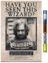 """Trends International The Wizarding World: Harry Potter-Sirius Black Wanted Clip Wall Poster, 22.375"""" x 34"""", Poster & Clip Bundle"""