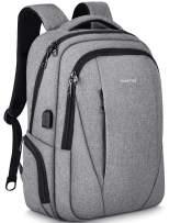 Tigernu Travel Laptop Backpack Business Slim Anti-theft Backpacks with USB Charging Port Water Resistant College School Computer Bag for Men Women Fit Under 15.6 inch Notebook/Macbook,Grey