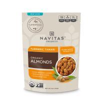 Navitas Organics Turmeric Tamari Almonds, 4 oz. Bags (3 Pack) — Organic, Non-GMO, Gluten-Free, Refined Sugar-Free