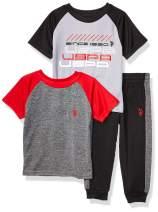 U.S. Polo Assn. Boys' Short Sleeve Athletic, T-Shirt, and Jogger Set