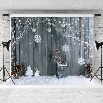 Kate 7x5ft Christmas Photo Backdrop Snowflake Christmas Wood Wall Backdrops Children Christmas Party Decoration Backgrounds for Photography