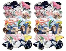 Syleia 12 Pcs Hair Scrunchies Chiffon Elastic Hair Bands Scrunchy Hair Ties Ropes Scrunchie for Women or Girls Hair Accessories – 12 Assorted Colors Scrunchies (12 PCS Chiffon Hair Scrunchies)