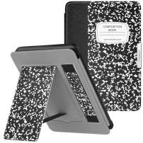 MoKo Case for Kindle Paperwhite, Premium PU Leather PC Hard Shell Smart Stand Cover Fits All Paperwhite Generations Prior to 2018 (Will not fit All-New Paperwhite 10th Generation), Notebook Black