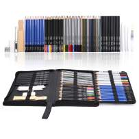 Mxculior 71-Piece Art Supplies -Sketch Set,Painting,Coloring and Drawing Pencils Set with Extra Art Kits for Children, Adults and Artists