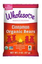 Wholesome Fair Trade Organic Cinnamon Bears, No Artificial Colors or High Fructose Corn Syrup, Non GMO & Gluten Free, Vegan, 2 Ounce (Pack of 12)