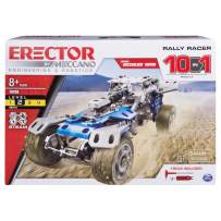 Erector by Meccano Rally Racer 10-in-1 Building Kit, 159 Parts, Stem Engineering Education Toy For Ages 10 & Up