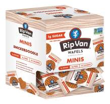 Rip Van Wafels Snickerdoodle Mini Stroopwafels - Low Carb Snacks (3g Net Carbs) - Non GMO Snack - Keto Friendly - Office Snacks - Low Calorie Snack (35 Calories) - Low Sugar (1g) - 128 Count