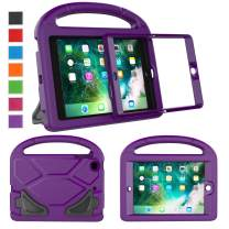 LTROP Kids Case for iPad Mini 1/2/3, Shockproof Handle Light Weight Stand Cover with Built in Screen Protector for iPad Mini, iPad Mini 3rd, iPad Mini 2nd Generation - Purple
