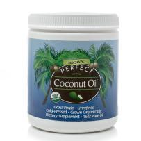 Perfect Coconut Oil- Pure, Organic, Non-GMO, Cold-Pressed, Raw Coconut Oil by Perfect Supplements, 16oz
