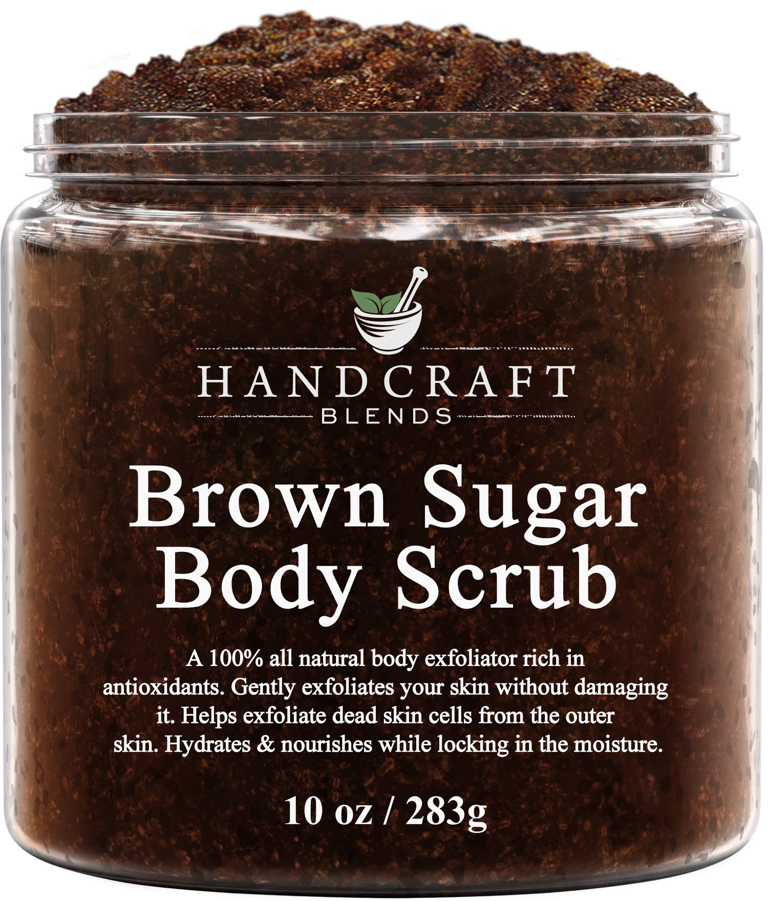 Handcraft Brown Sugar Body & Face Scrub - All Natural - Great as a Hand and Foot Scrub - for Cellulite, Stretch Marks, and Varicose Vein - 10 oz