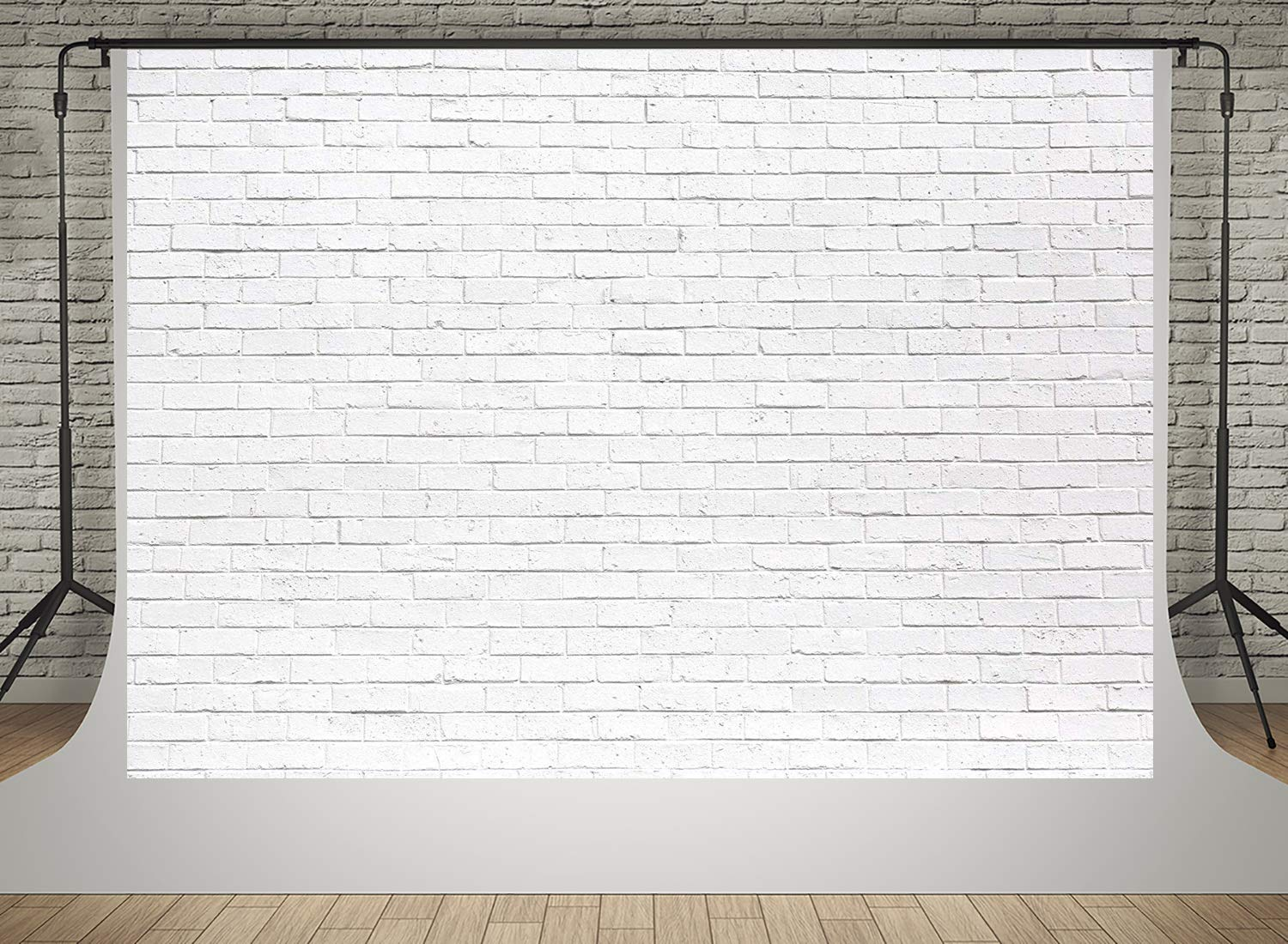 Kate10x6.5ft White Brick Wall Photography Backdrops Vintage Seamless Portrait Wedding Photo Background Props Holiday Party Decoration Backdrop for Photoshoot