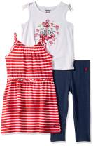Limited Too Girls' Sleeveless Dress, Tank Top and Legging Set