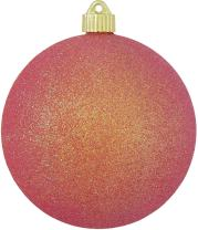 "Christmas By Krebs Large Commercial Shatterproof UV Resistant Plastic Christmas Ball Ornament Wedding Party Event Decor, 6"" (150mm), Fire Red Glitter"