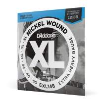 D'Addario Nickel Wound Electric Guitar Strings, 1-Pack, Extra Heavy, 12-60
