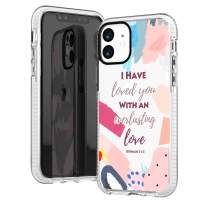 iPhone 11 Case,Girls Women Trendy Cute Colorful Abstract Graphic Mosaic Palette Bible Verses Christian Christ Inspirational Quotes Everlasting Love Soft Protective Clear Case Compatible for iPhone 11