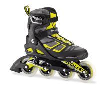 Rollerblade Macroblade 90 Alu Men's Adult Fitness Inline Skate, Black and Lime, High Performance Inline Skates