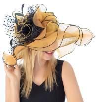 Fascinator for Women Organza Church Kentucky Derby Hat Bridal Tea Party Wedding Hats