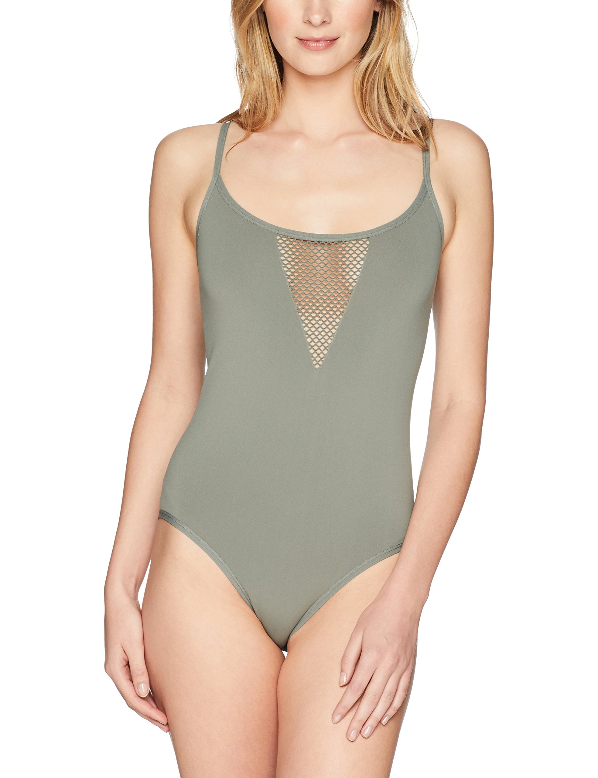 Amazon Brand - Mae Women's Seamless Plunge Bodysuit