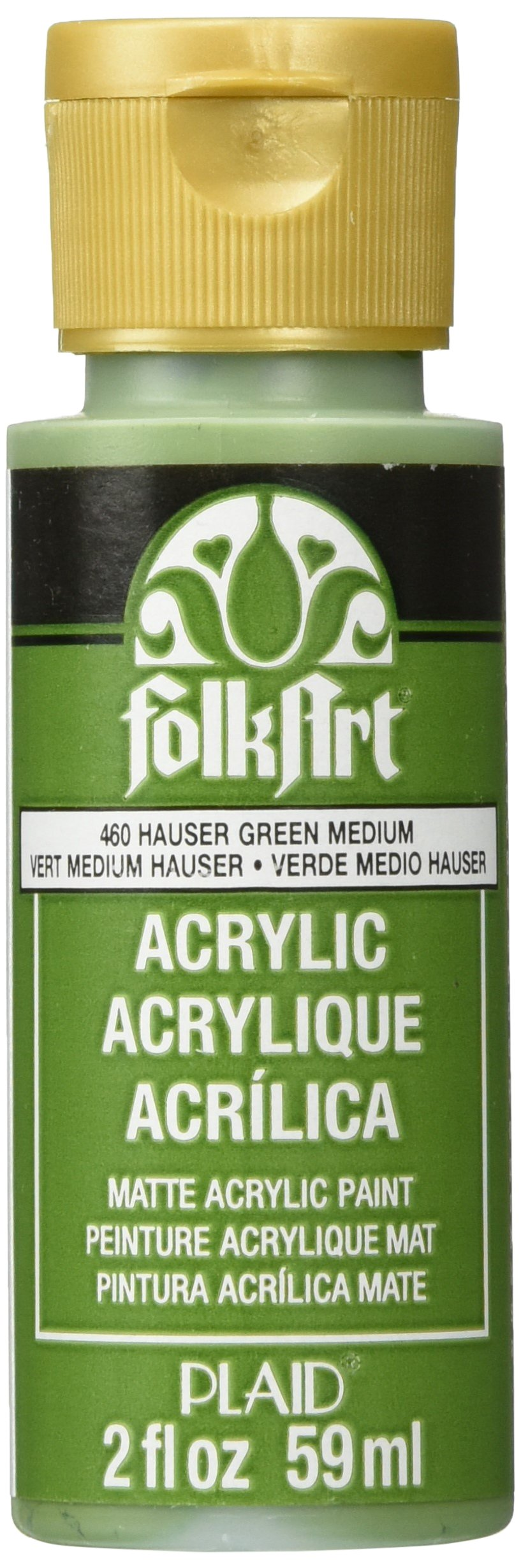 FolkArt Acrylic Paint in Assorted Colors (2 oz), 460, Hauser Green Med