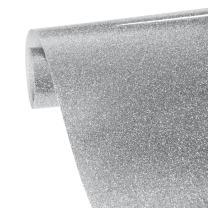 VINYL FROG 9.8x60(0.8x5ft) PU Glitter Heat Transfer Vinyl(Silver
