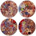 Presents for Christmas and Thanksgiving Day, Ceramic Coasters Absorbent for Drinks, 4 Pack (Oil Painting)