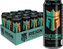 Reign Total Body Fuel, Mang-O-Matic, Fitness & Performance Drink, 16 Oz (Pack of 12)