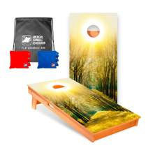 Star Nature Inspired Professional Cornhole Boards with Corn Filled Bags and Nylon Tote
