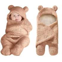 Swaddling Blankets Newborn Baby Boys Girls Blankets Swaddling Wrap Baby Girl Shower Gift Plush Swaddle Blankets Khaki