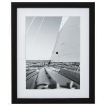 Amazon Brand – Stone & Beam Modern Black and White Nautical Sailboat at Sea Photo Wall Art Decor - 13 x 15 Inch Frame, Black