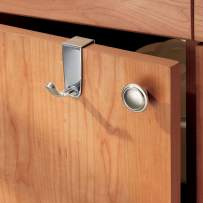 InterDesign Axis  Over The Cabinet Hook for Dish Towel and Oven Mits, Chrome