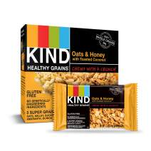 KIND Healthy Grains Bars, Oats & Honey with Toasted Coconut, Gluten Free, 1.2 oz, 5 Count (8 Pack)