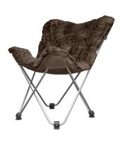 Urban Shop Mongolian Faux Fur Butterfly Chair, Brown