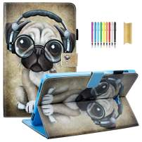 Tab A 10.1 Case, SM-T580 Case, Dteck Slim Lightweight Protective Stand Smart Cover with Auto Sleep/Wake Feature for Tab A 10.1 Inch SM-T580/T585/T587 (NO S Pen Version) Tablet- Music Dog