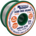 """MG Chemicals Sn100e, 99.5% Tin, 0.5% Copper, trace of Cobalt, Lead Free Solder, No Clean, 0.81mm, .032"""" Dia."""