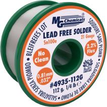 "MG Chemicals Sn100e, 99.5% Tin, 0.5% Copper, trace of Cobalt, Lead Free Solder, No Clean, 0.81mm, .032"" Dia."