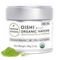Oishi Matcha 30g - Organic Latte Grade Matcha - First Harvest - Premium Japanese Matcha - Lattes, Smoothies, Baking - Radiation Free, No Additives, Zero Sugar - USDA and JAS Certified (1oz tin)