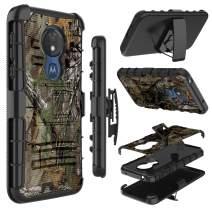 Moto G7 Power Case, Moto G7 Supra Case, Zenic Heavy Duty Shockproof Holster Protective Case with Swivel Belt Clip Kickstand for Moto G7 Power/Moto G7 Optimo Maxx(Natural)