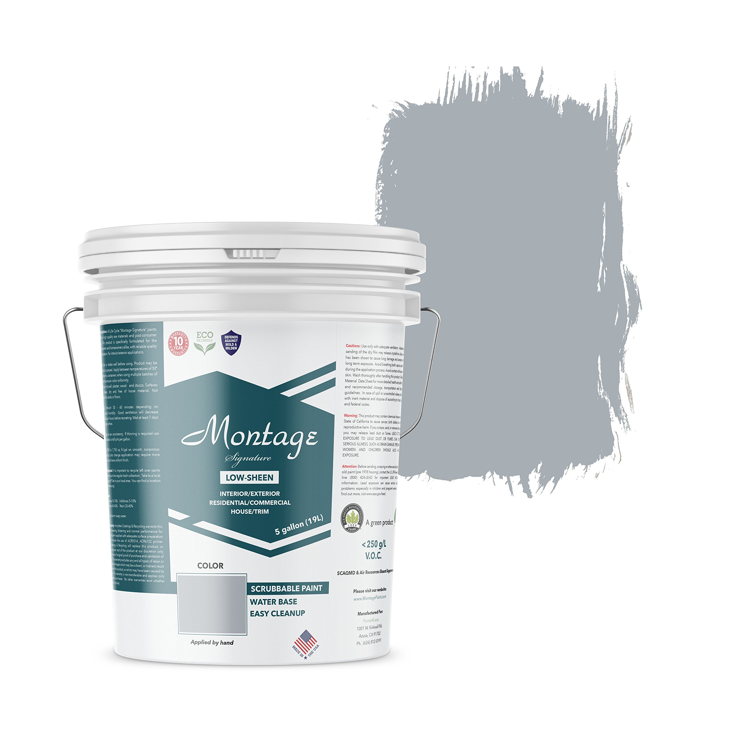 Montage Signature Interior/Exterior Eco-Friendly Paint, Twilight - Low Sheen, 5 Gallon