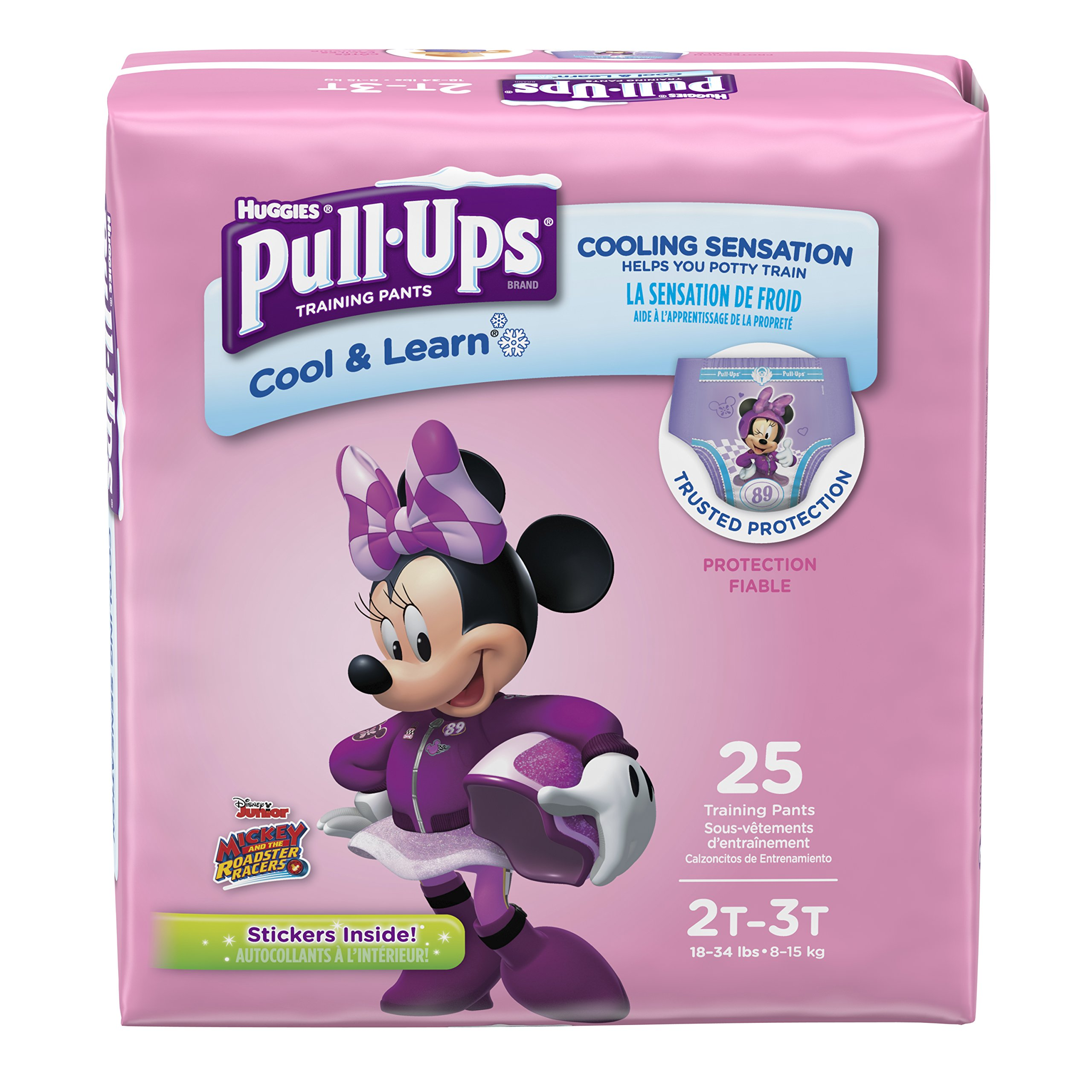 Pull-Ups Cool & Learn Potty Training Pants for Girls, 2T-3T (18-34 lb.), 25 Ct. (Packaging May Vary)