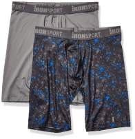IRONMAN Men's Multipack IRONSPORT with Silver 9'' Boxer Brief