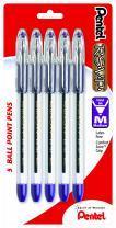 Pentel R.S.V.P. Ballpoint Pen, Medium Line, Violet Ink, 5 Pack  (BK91BP5V)
