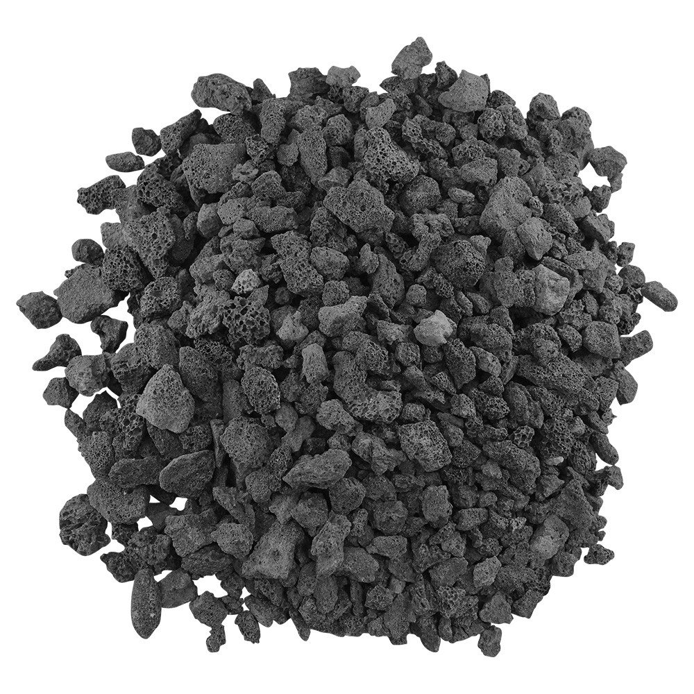 American Fireglass LAVA-M-10 American Fire Glass Medium Sized Black Lava Rock – Porous, All-Natural, 1/2 Inch to 1 Inch Thick x 10 Pounds