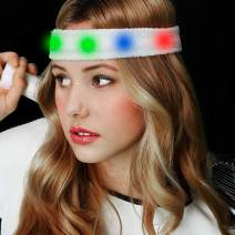 Fun Central LED Light Up Sweat Headband for Sports and Party Supplies