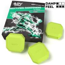 ADV Tennis Vibration Dampener - Set of 3 - Ultimate Shock Absorbers for Racket and Strings - Premium Quality, Durable, and 100% Reliable - Poly-Silicone Material Technology