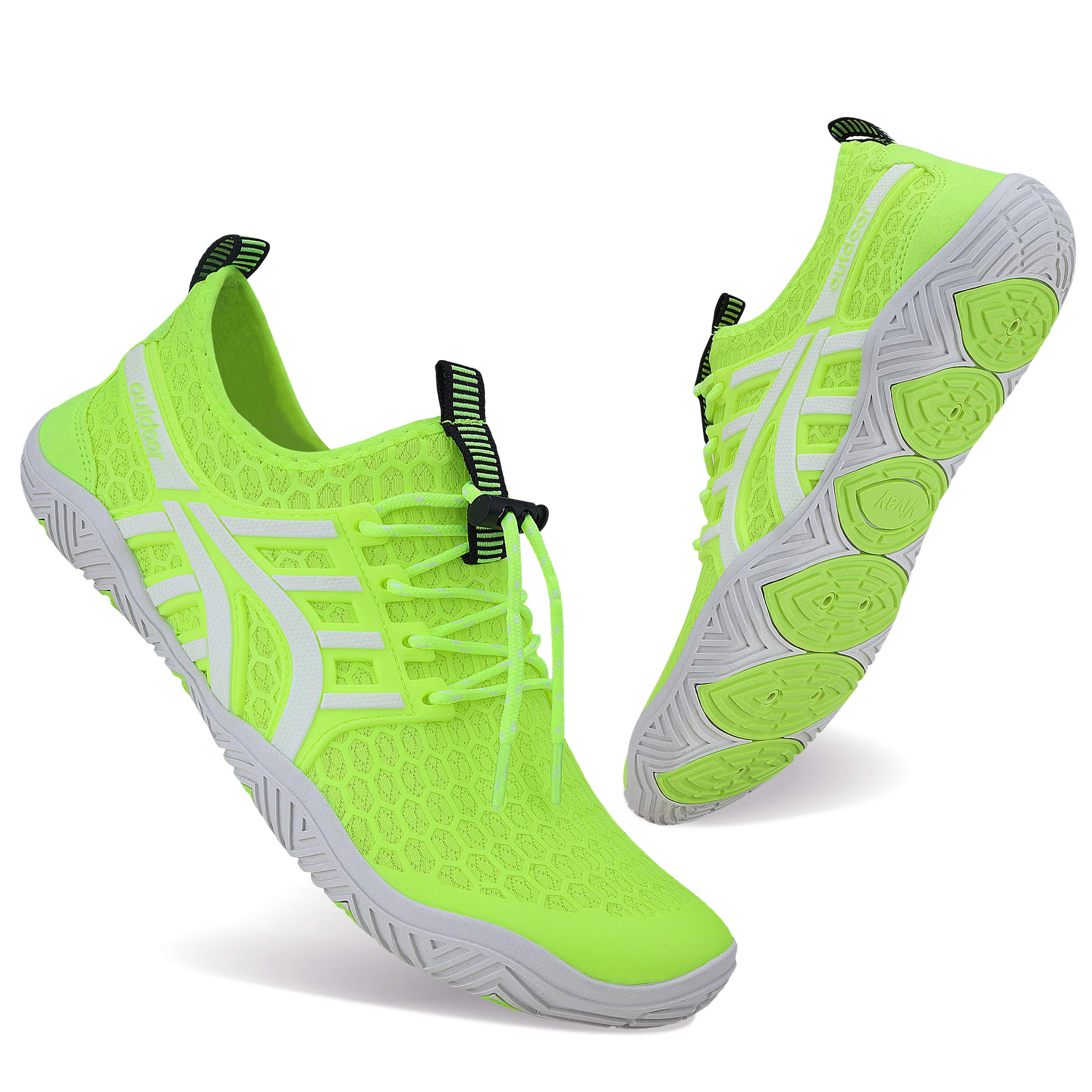 WXDZ Mens Womens Water Shoes Swim Shoes Aqua Shoes Beach Sports Quick Dry Barefoot for Boating Fishing Diving Surfing with Drainage Driving Yoga Upstream
