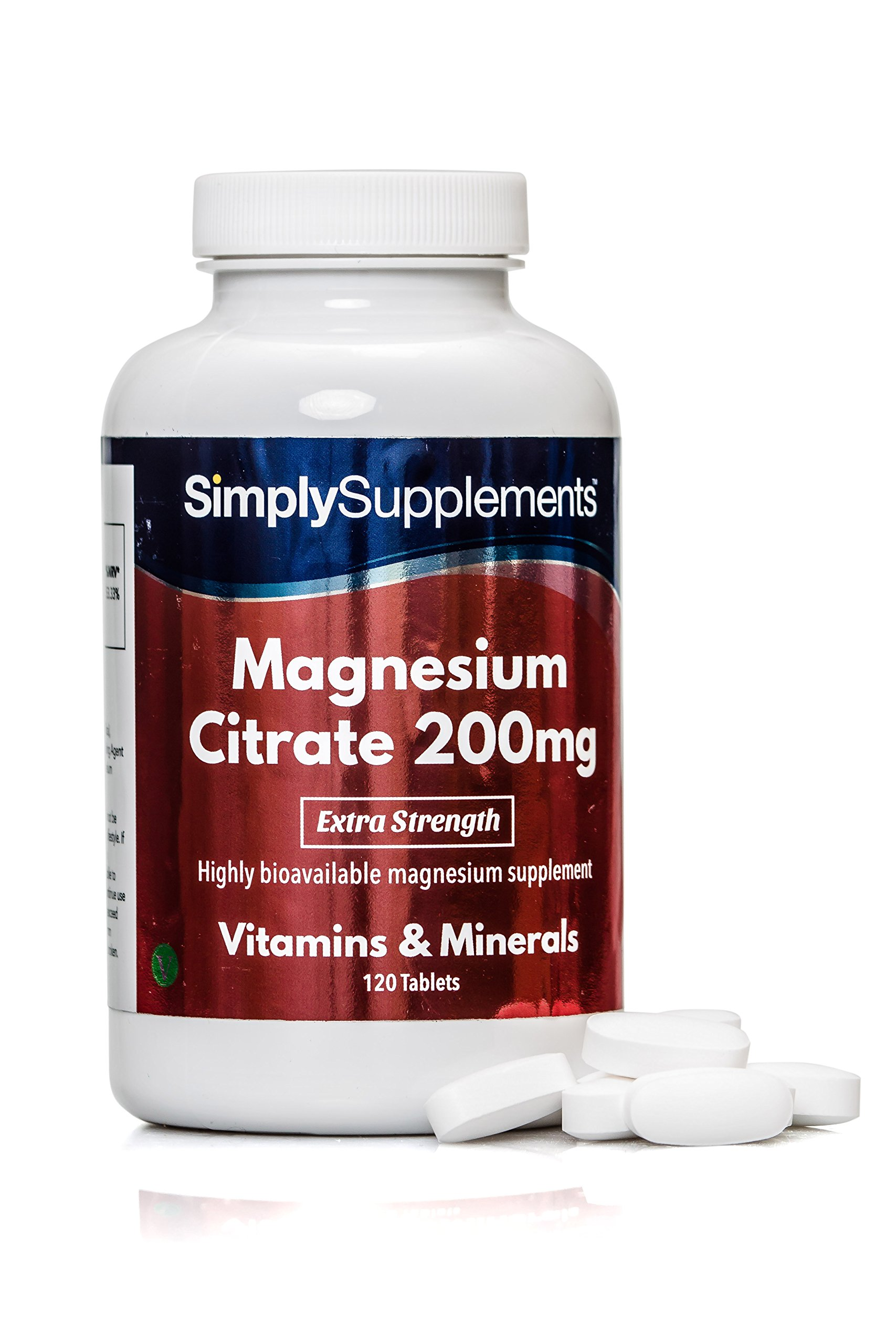 Magnesium Citrate Tablets 200mg (120 Tabs)