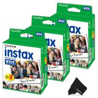 FujiFilm Instax Wide Instant Film 3 Pack (3 x 20) Total of 60 Photo Sheets - Compatible with FujiFilm Instax Wide 300, 210 and 200 Instant Cameras (60 Sheets)