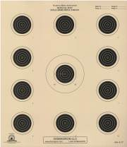 DOMAGRON 50 Foot Small Bore Conventional 4-Position Official NRA Target A-17 (Package of 50)